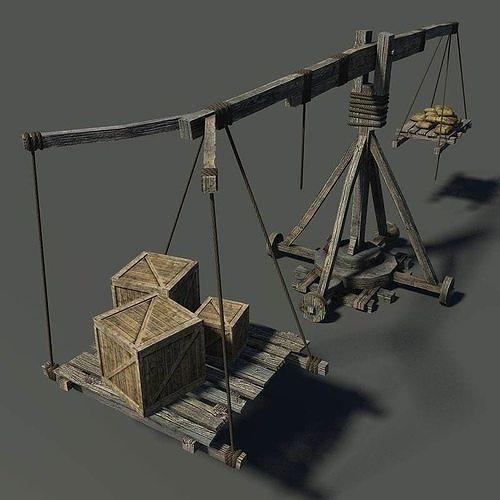 old wooden crane 3d model max obj mtl fbx 1