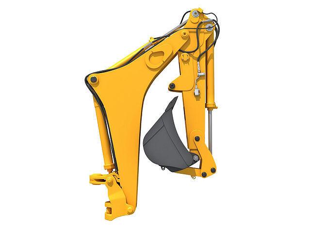 backhoe loader attachment 3d model max obj mtl 3ds c4d lwo lw lws ma mb 1