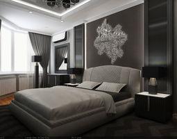3d interior scene - flat 02 - 2 bedrooms