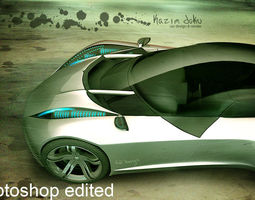3D sport super car design drift concept