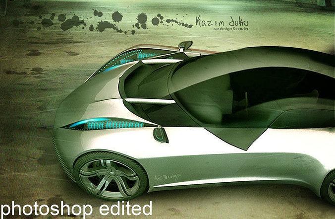 sport super car design drift concept 3d model max obj mtl 3ds 1