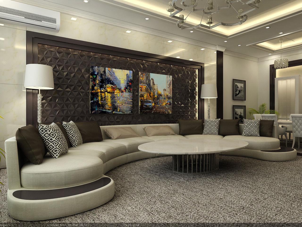 Interior Scene   Flat 03   Living Room 3d Model Max 1 ... Part 78