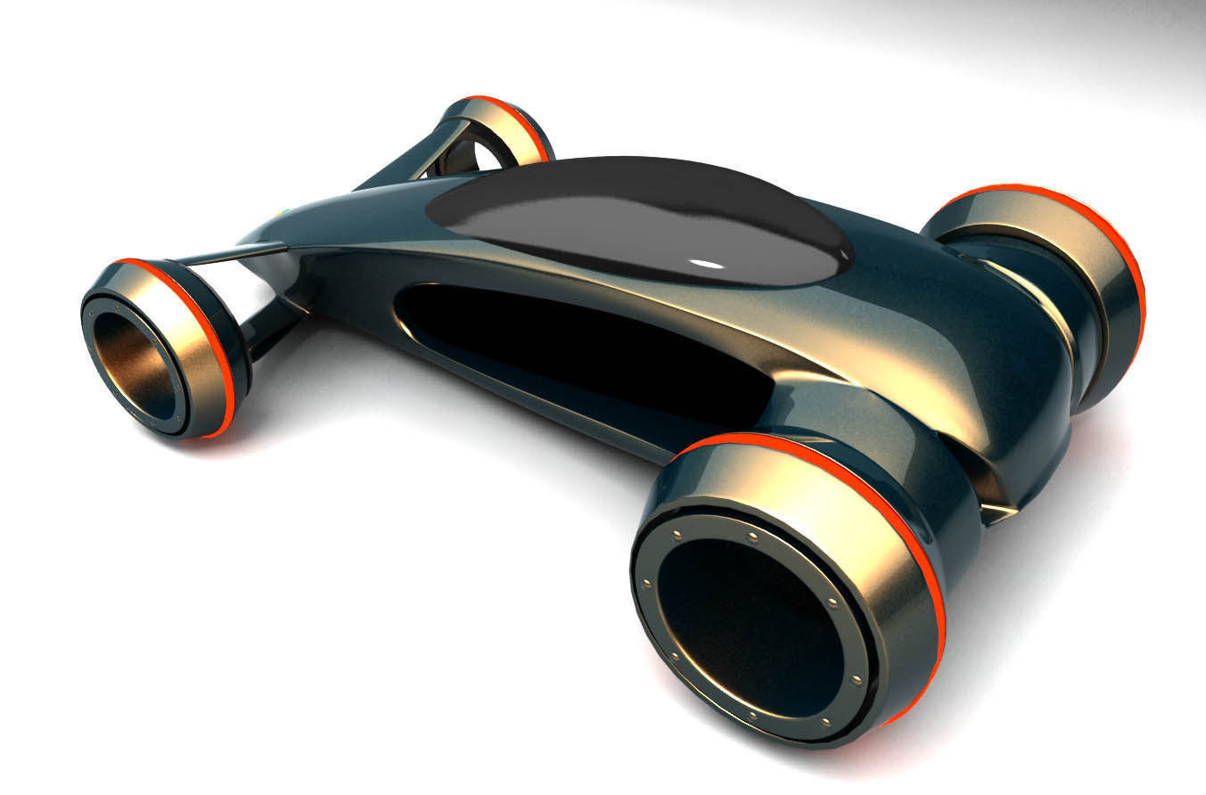 Future car concept 3d model max obj 3ds for Futuristic household items