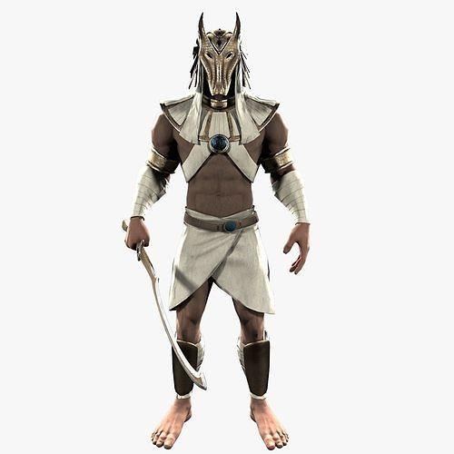 egypt warrior 3d model max obj mtl 3ds fbx 1