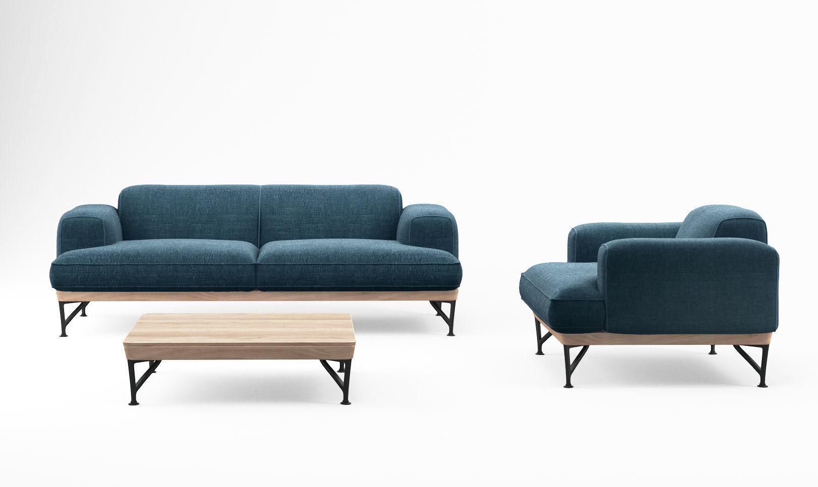 De la Espada armstrong sofa and armchair