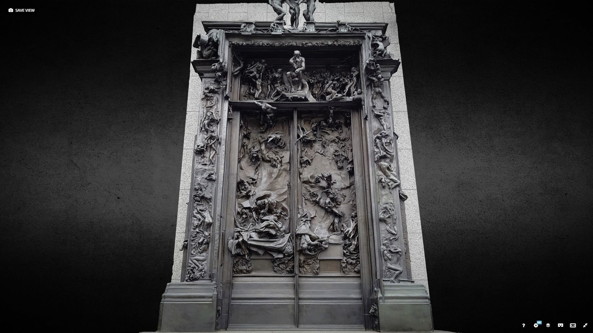 Rodin Gates of Hell photogrammetry scan