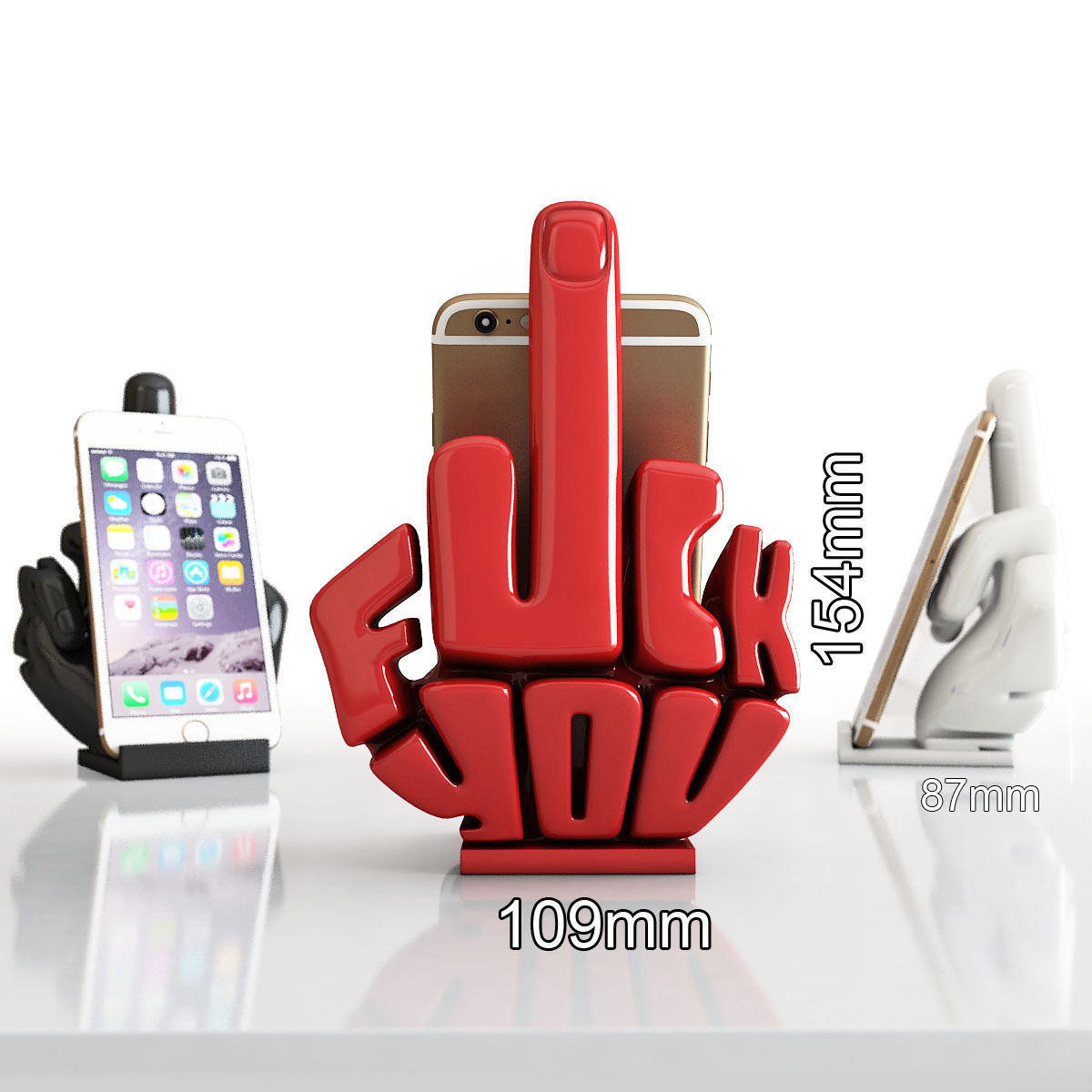 Phone stand middle finger