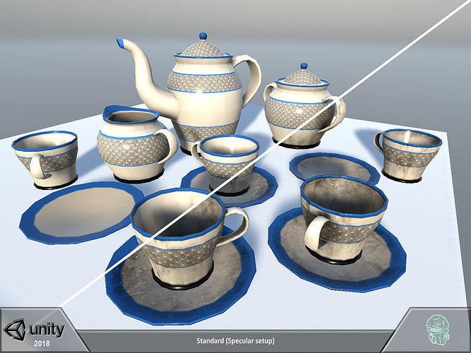 tea coffee set 3d model fbx ma mb tga unitypackage prefab 1