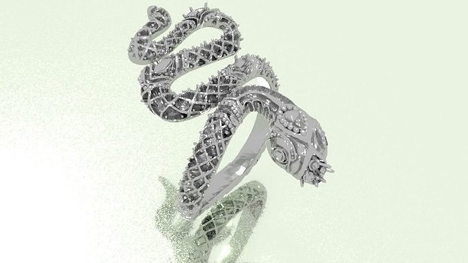 snake ring 3d model obj mtl stl 1