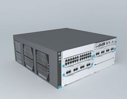 3d model hewlett packard e5604 data center switch