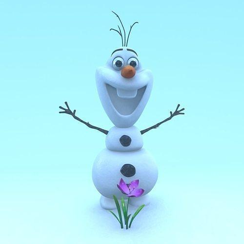 frozen snowman 3d model obj mtl ma mb 1