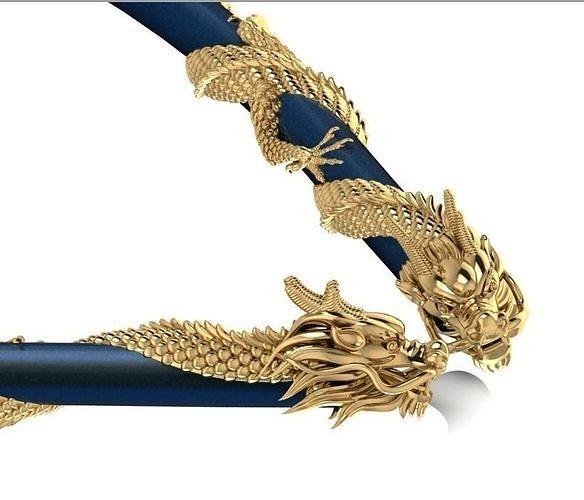 dragon necklace 3d 3d model obj mtl 3ds stl 3dm 1