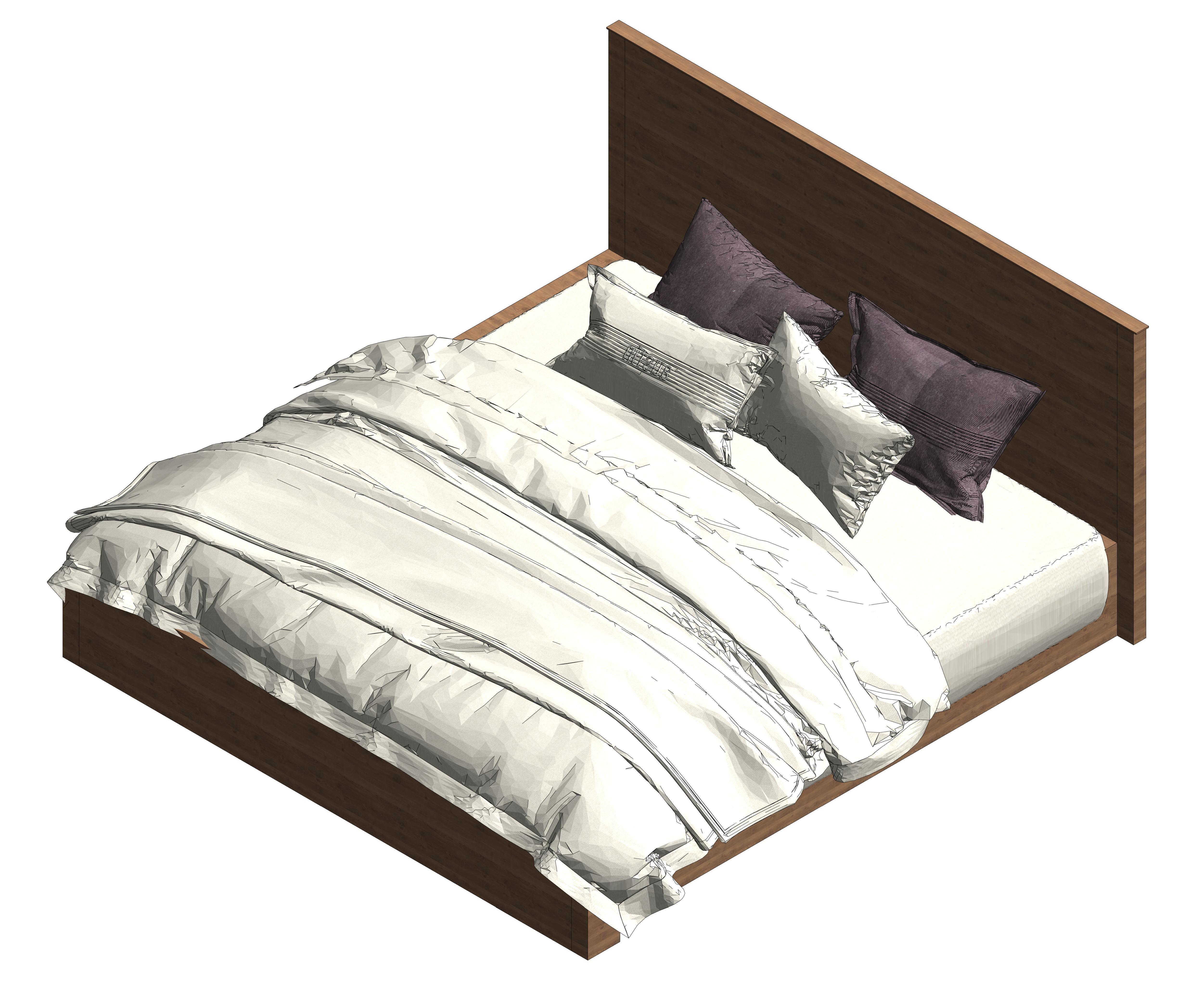 Sleep Science Mattress >> 3D asset Beds vol 1 revit | CGTrader