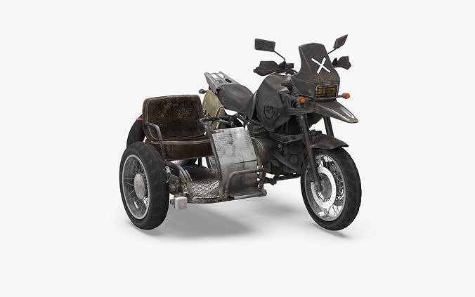 pubg motorcycle 3d model max obj mtl 3ds fbx ma mb tga 1