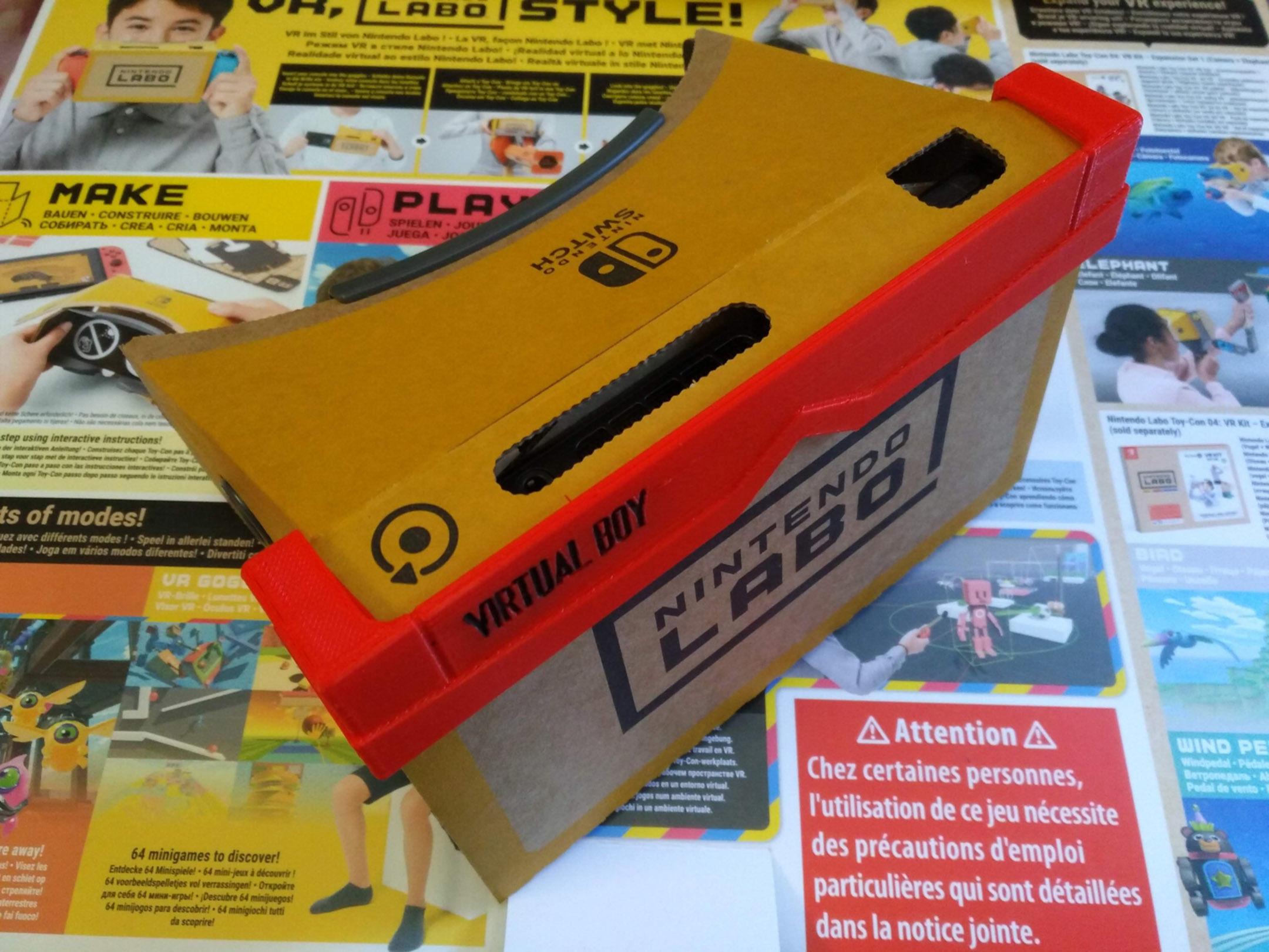 Virtual boy case for Nintendo labo VR-KIT