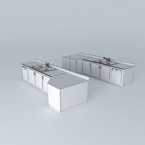 ... Kitchen Sink With Built In Dishwasher (left Hand And Right Hand) 3d  Model Max