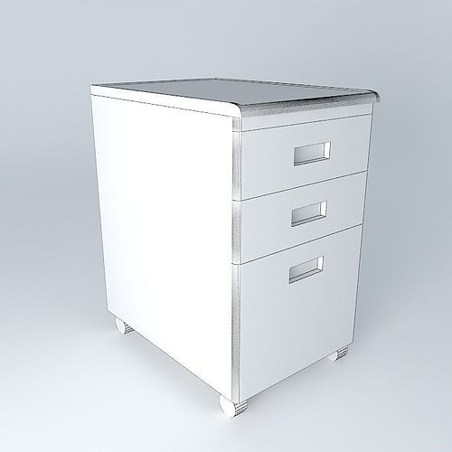 ... Under Desk File Cabinet 3d Model Max Obj 3ds Fbx Stl Dae 4 ...