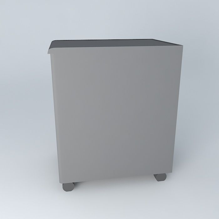 Under Desk File Cabinet 3D Model MAX OBJ 3DS FBX STL DAE