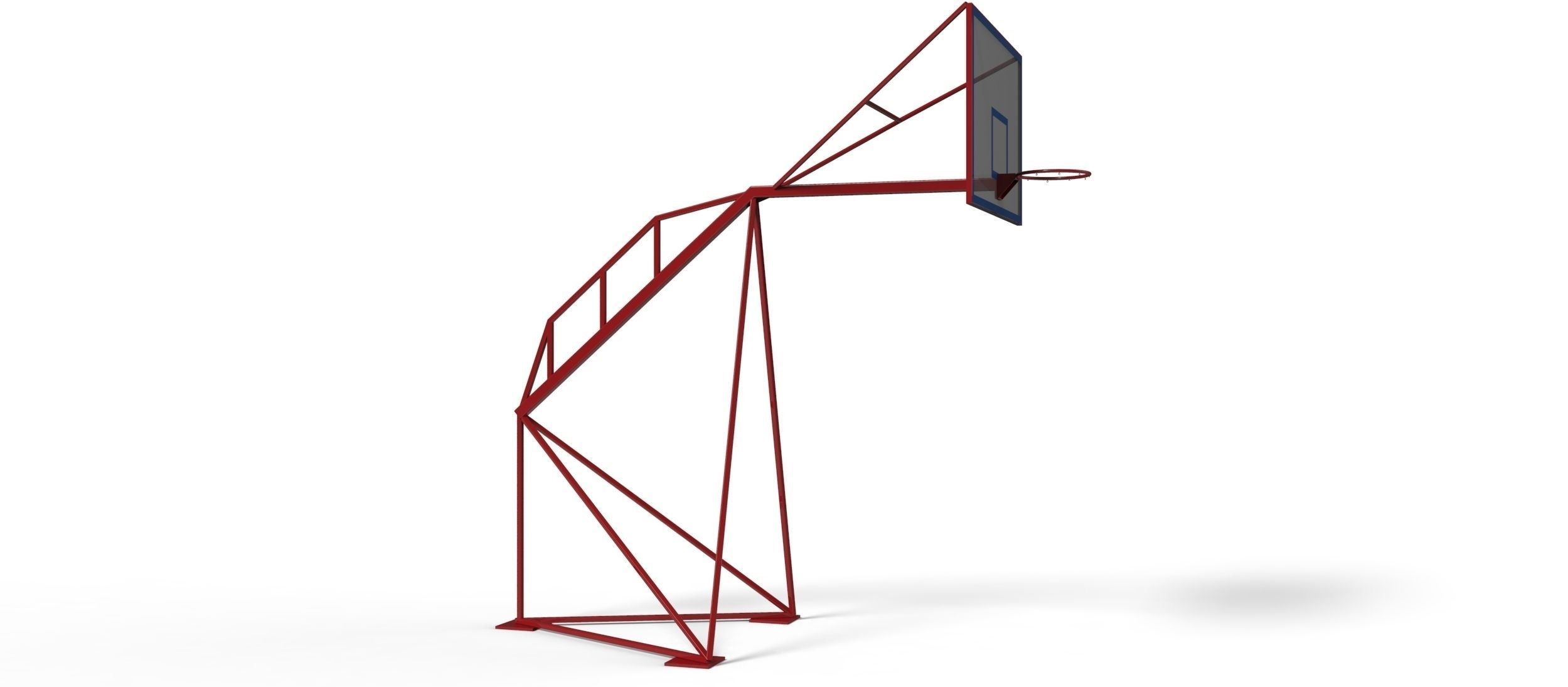 3D model Outdoor basketball frame and table | CGTrader