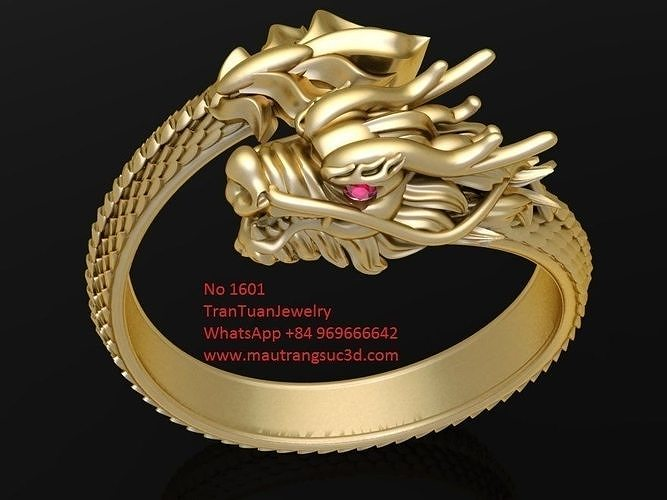1601 luxury dragon ring version 1 3d model stl 3dm 1