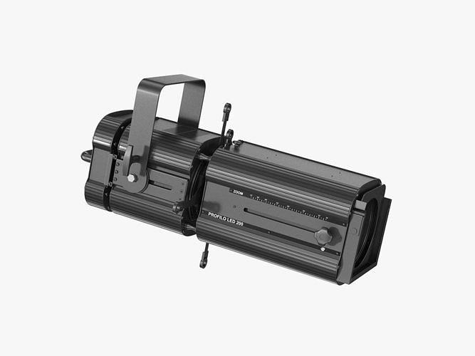 dts conventinonal projectors led profilo 200 3d model max obj mtl 3ds fbx c4d ma mb 1