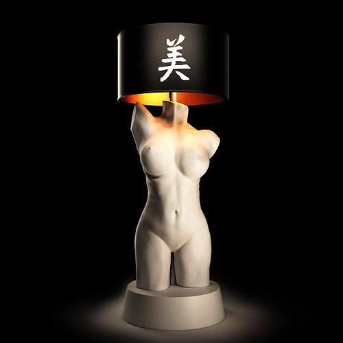 female torso lamp 3d model max obj mtl fbx 1