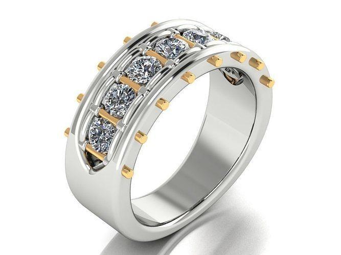 Diamonds Mens Ring
