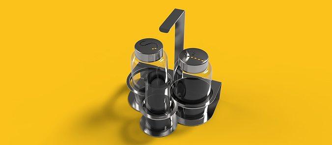 salt and pepper containers 3d model max obj mtl 3ds fbx sldprt sldasm slddrw 1