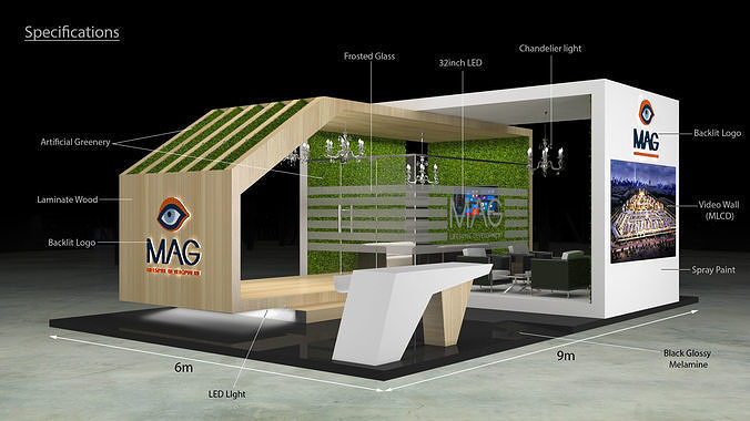 3d exhibition stand booth 9x6m 3d model max 1