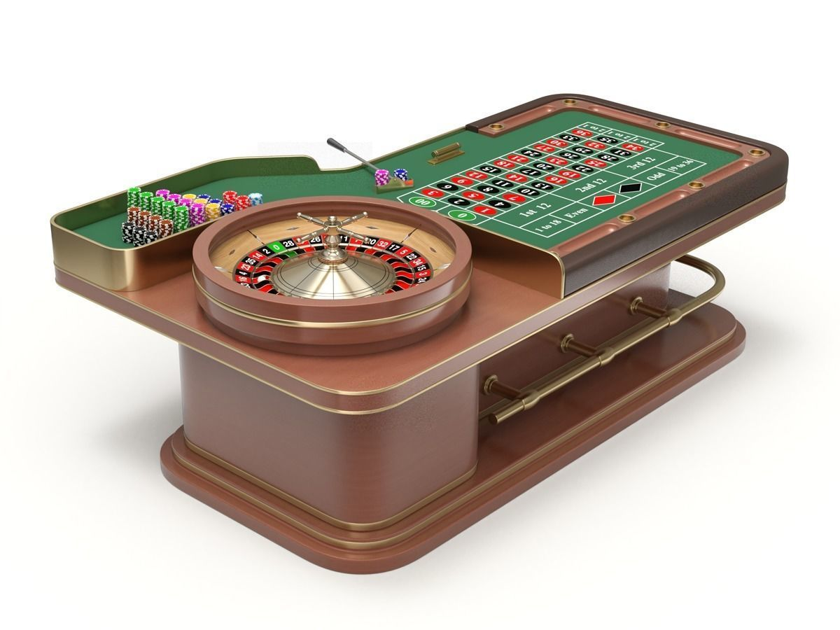 American and European Roulette Table