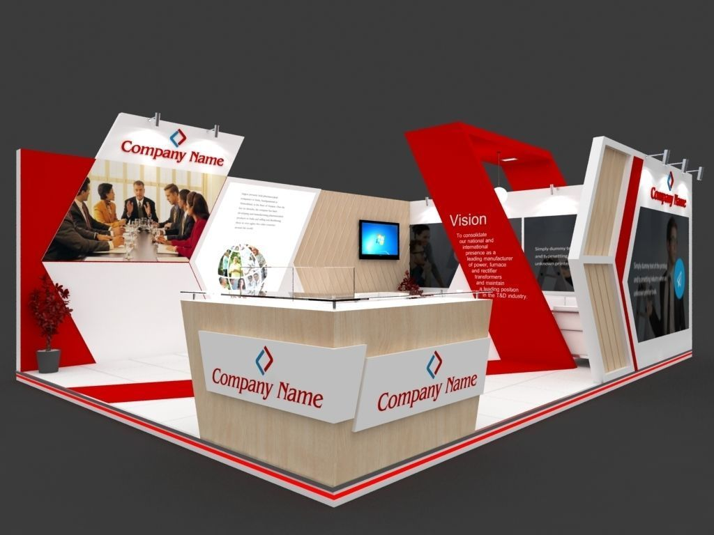 Exhibition Stall Manufacturer : Exhibition stall d model mtr sides open booth