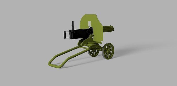 Maxim M1910 machine gun scale model