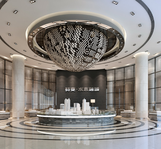 3d Luxury Hotel Lobby Cgtrader