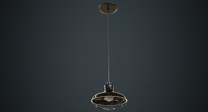 hanging lamp 1a 3d model low-poly obj mtl fbx blend 1