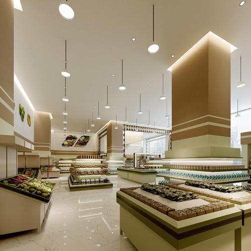 spacious food store 3d model max 1