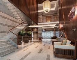 hotel lobby 3d model max