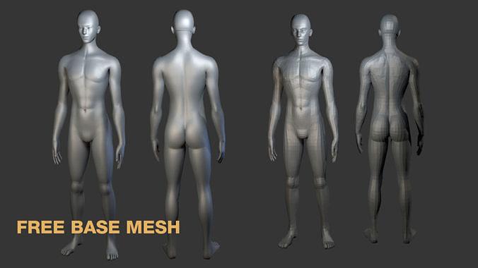 free base man mesh