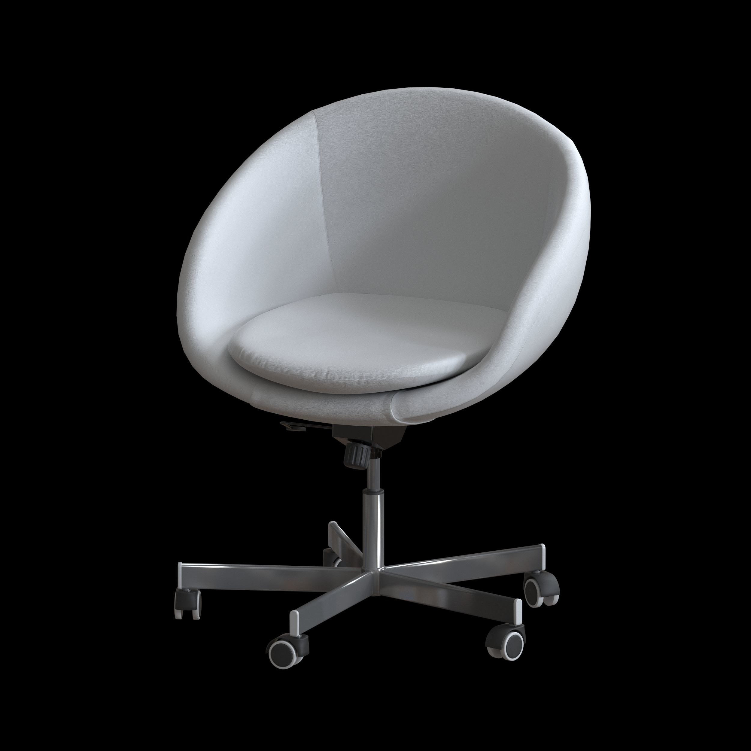 Fine Ikea Skruvsta Swivel Chair 3D Model Bralicious Painted Fabric Chair Ideas Braliciousco