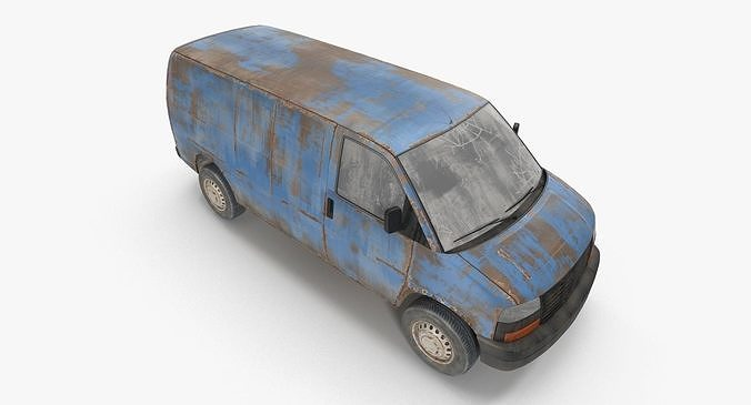 rusty van 03 3d model max obj mtl 3ds fbx 1