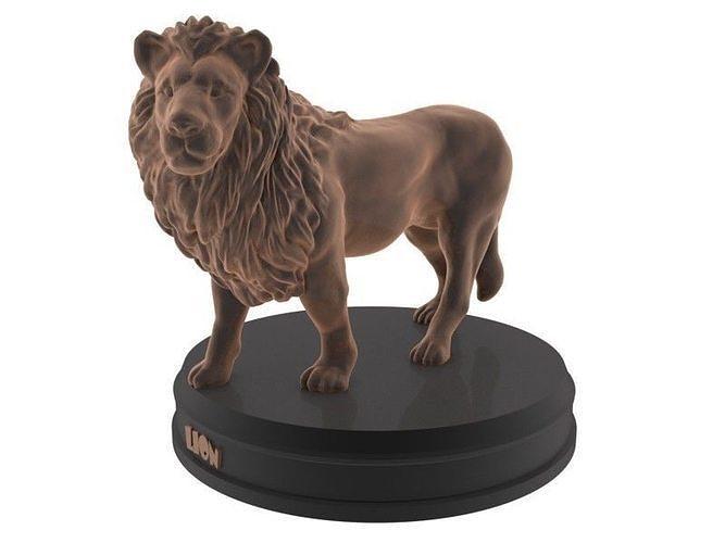 lion printable 3d model max obj mtl fbx stl blend 1
