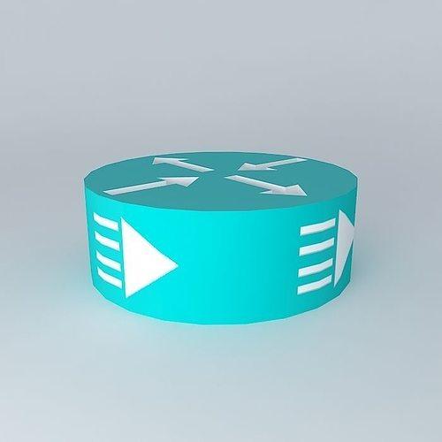 cisco edge and broadband router icon 3d model max obj 3ds fbx stl dae 1