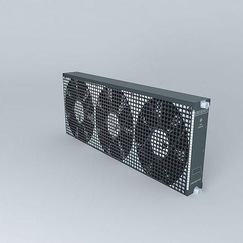 cisco fan module for catalyst 6503 chassis 3d model max obj mtl 3ds fbx stl dae 1