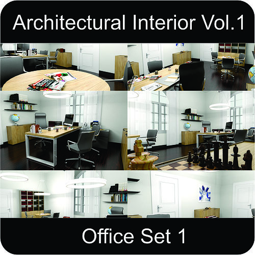 office architectural interior vol 1 3d model low-poly max obj 3ds fbx mtl gsm 1