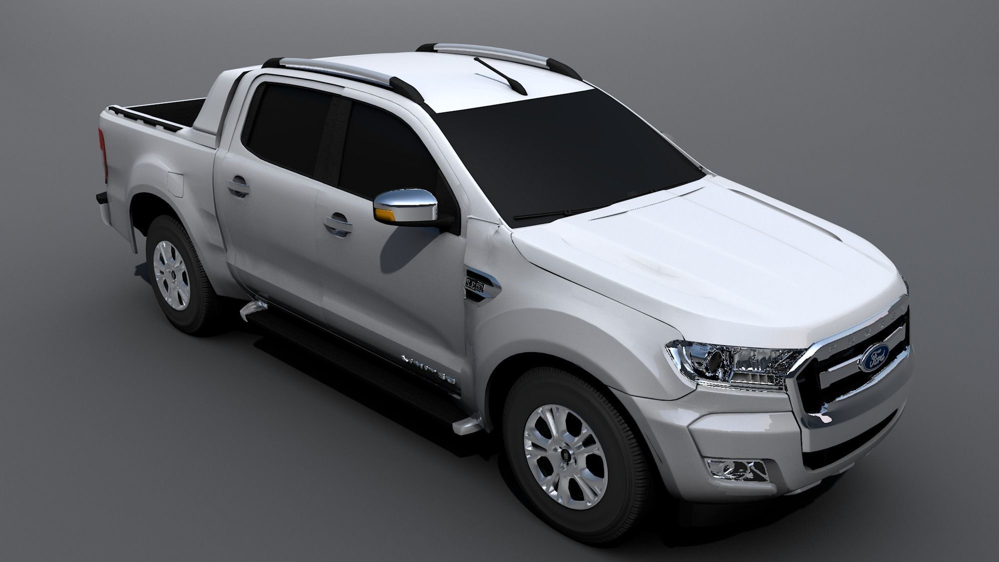 Ford Ranger 2017 >> Ford Ranger 2017 3d Asset Cgtrader