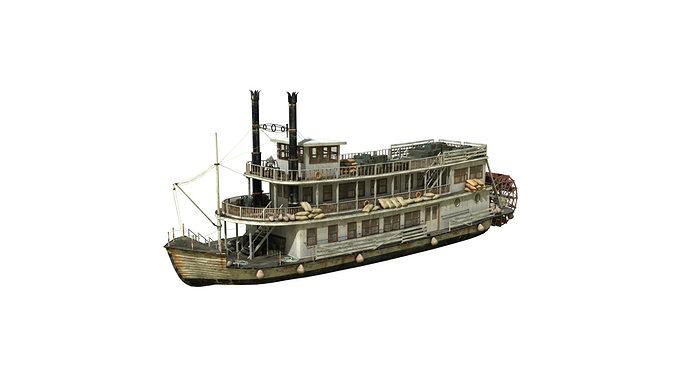 steamboat 3d model obj mtl fbx ma mb 1