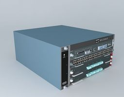 3D Cisco Catalyst 6504E Switch