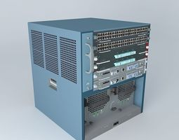 3D model Cisco Catalyst 6506-E Chassis