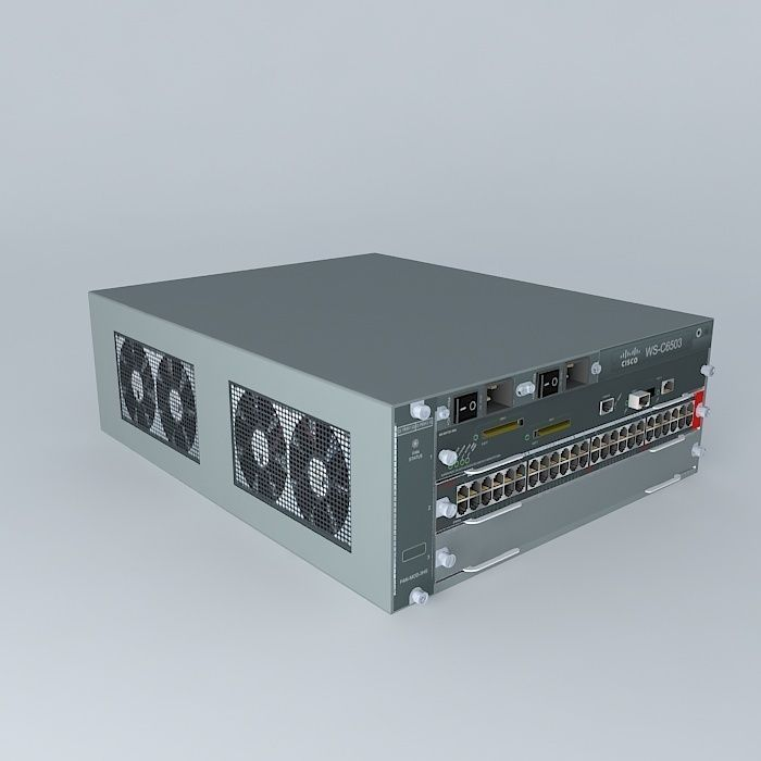 Cisco Catalyst 6503e Layer 3 Switch | 3D model