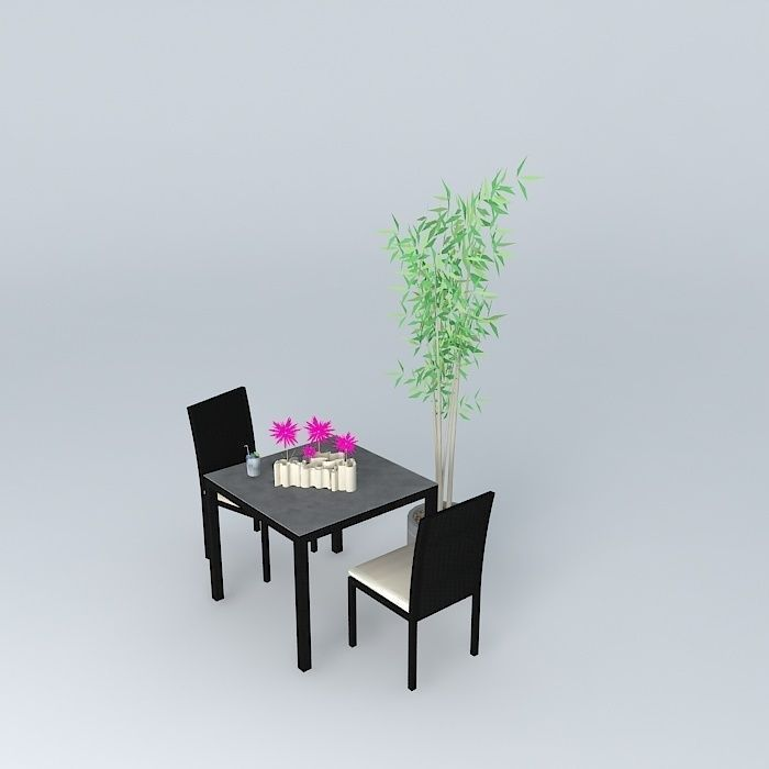 Garden furniture miami maisons du monde 3d model max obj for Maison du monde outdoor
