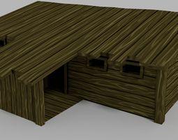 VR / AR ready lowpoly rpg house  3d asset